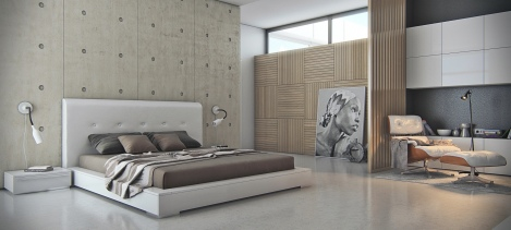 concrete-bedroom-featre-wall